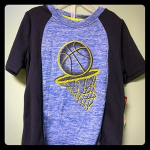 * 3 for $10 Boys blue and yellow basketball top